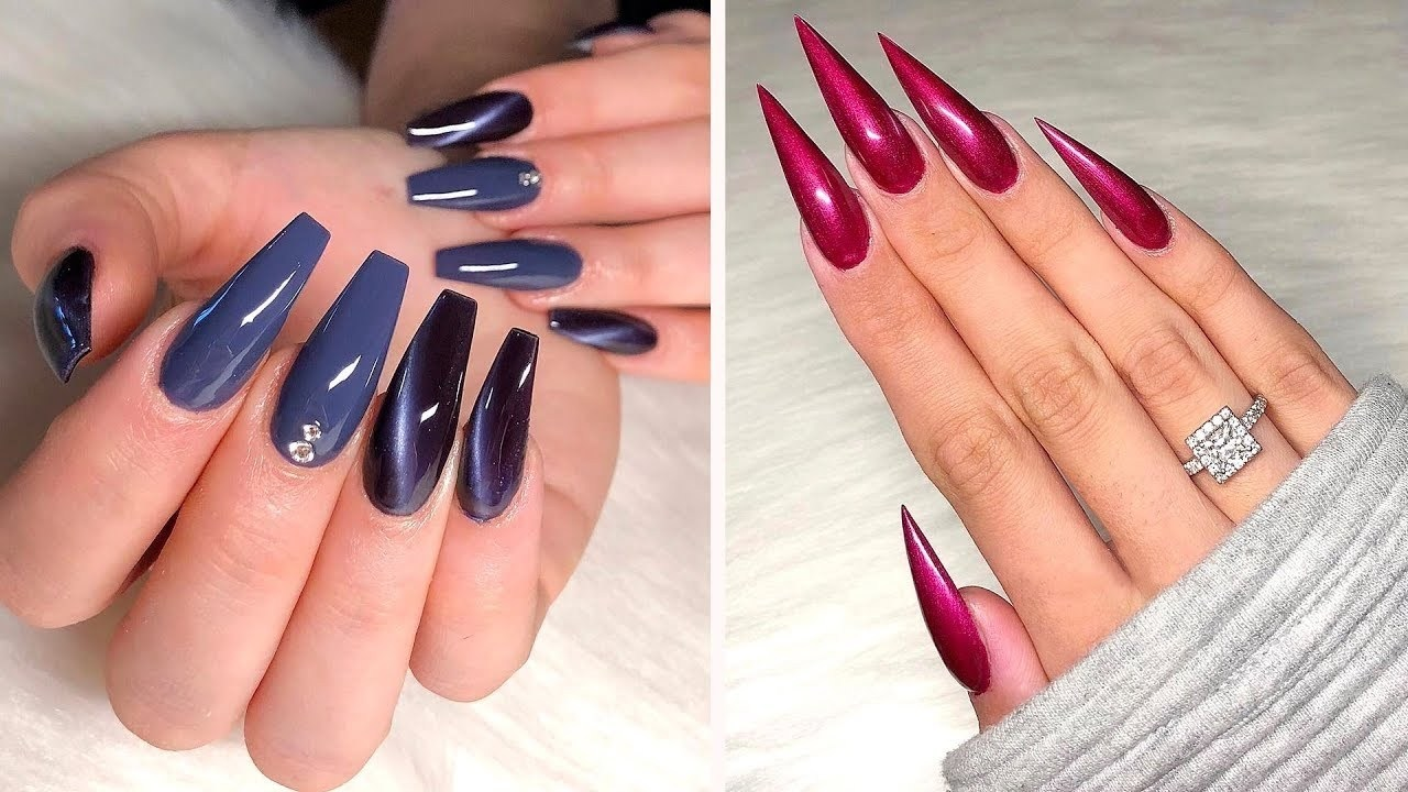 Long Nails Art Design Ideas